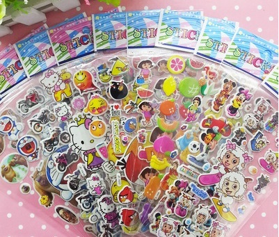 $0.25 BUY 10 GET 1 FREERESTOCK IN Cartoon Stickers Pokemon/Yokai/Pororo/Peppa/Many Designs