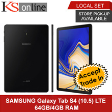 SAMSUNG TAB S4 10.5 LTE 64GB/4GB T835 + Free Original Book Cover {1 YEAR LOCAL MANUFACTURER WARRANTY