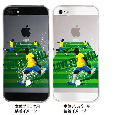 【ブラジル】【iPhone5S】【iPhone5】【サッカー】【iPhone5ケース】【カバー】【スマホケース】【クリアケース】 10-ip5-spo-01の画像