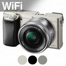 [★LOWEST PRICE!★] Sony Alpha a6000 Mirrorless Digital Camera with 16-50mm Lens Kit Silver / White