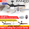 FANCO Ceiling Fan | A-Con Series |  42 and 52 Inches | Free Light Kit | Free Remote | Warranty