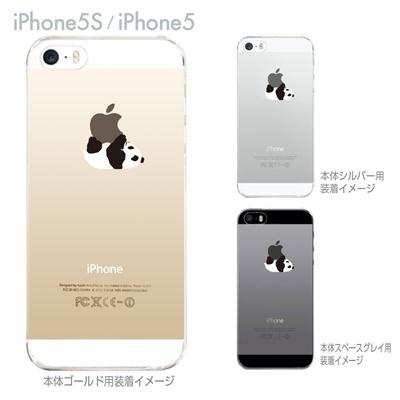 【iPhone5S】【iPhone5】【iPhone5ケース】【クリア カバー】【スマホケース】【iPhone ケース】【クリアケース】【ハードケース】【着せ替え】【イラスト】【パンダA】 ip5-08-ca0019の画像
