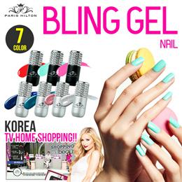 [Paris Hilton Bling Gel]★7Color Gel Nail★Motion Sensor LED Lamp/One Step Curing/3 Minute Complete/No Soak-off/Curing of Five finger at same time