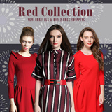 2015 RED COLLECTION LITTLE RED DRESS / PANTS / JACKET / COAT / SKIRTS / SHIRT