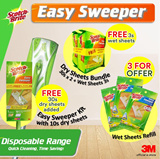 [Official E-Store] Scotch-Brite® Easy Sweeper Starter Kit - Floor Cleaner / Best Buy / Parquet / Laminate / Tile / Magiclean - Wet Refill