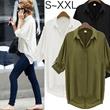 [S~XXL]エポレットサマーブラウス半袖シャツ楽ちんセットアップオールインワンワンピース最高品質room153[予約]※ルーズに着るにはワンサイズ上をおすすめ