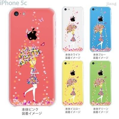 【iPhone5c】【iPhone5cケース】【iPhone5cカバー】【iPhone ケース】【クリア カバー】【スマホケース】【クリアケース】【イラスト】【クリアーアーツ】【フラワーガール】【花のシャワー】 01-ip5c-zec033wの画像
