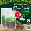 ☆ Value Bundle 1+1 ☆ Organic Chia Seeds [500g] x2 ~ FREE SHIPPING