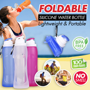 SILICONE SPORTS WATER BOTTLE *Non-Toxic/Medical Grade/Eco-Friendly/Food Grade BPA Free/Hot Selling