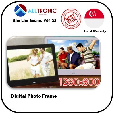 Digital Photo frame | 1280x800 / USB port / SD port | Specification Power supply : DC 5v 1.5A 2A | Supports JPEG,BMP Format picture browsing, Auto Play w Multiple Effects,Supports B.G Music Playback. Deals for only S$110 instead of S$0