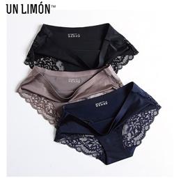 ⭐Bundle of 3⭐ UNLIMON Luxurious Lace Panty Stitching Sexy Seamless Soft Panties Six Colors⭐
