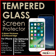 iPhone 8 X Note 8 S8 S8 Plus 7 Plus 6 5 S Tempered Glass Screen Protector Samsung Note Remax