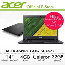 [Online Exclusive] Acer Aspire 1 A114-31-C5Z2 Laptop - 14 HD LED backlit TFT LCD