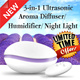 ★Design Award Winner★ Bliss! 3-in-1 Ultrasonic Aroma Diffuser | Humidifier | Night Light ★ PREMIUM Quality ★ FREE 100% Pure Essential Oil