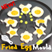 Fried Egg Moulds ★ Breakfasts Are Never Dull - Surprise Your Loved Ones with Creative Shaped Eggs! Sunny Side Up Stainless Steel Mold Kitchen Cookware Cooking Equipment