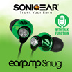 Push-to-Talk Mic Earpump. The Earphone with. FREE Silicon Gel and Travel Pouch.|Snug and Twirl| Local Products Stocks Dealer. Best Price with 12 Months Warranty!SONIC GEAR