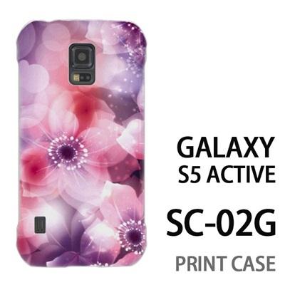 GALAXY S5 Active SC-02G 用『0116 きらきら花びら ピンク』特殊印刷ケース【 galaxy s5 active SC-02G sc02g SC02G galaxys5 ギャラクシー ギャラクシーs5 アクティブ docomo ケース プリント カバー スマホケース スマホカバー】の画像