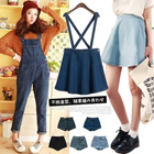 [HOT SALE]Fashion Women Jeans Collections/High-waisted Denim Shorts/Flounced Jeans Skirt/Denim Suspender Skirts Overalls/Jeans Dresses