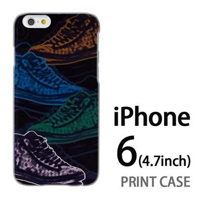 iPhone6 (4.7インチ) 用『No1 S スニーカースケッチ調』特殊印刷ケース【 iphone6 iphone アイフォン アイフォン6 au docomo softbank Apple ケース プリント カバー スマホケース スマホカバー 】の画像