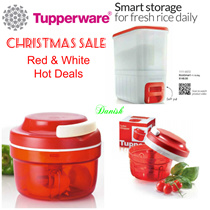 Tupperware Rice Smart Dispenser/Turpo Chopper /Red and White Hot Deals/  Best Present/Birthday Gift/ Mothers Day/*Lifetime Warranty* Free Delivery