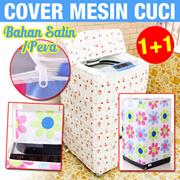 [1+1] Cover Mesin Cuci Bahan Satin / Peva ( good quality )