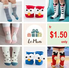 [New 3D Socks / Restock 29th Nov] Baby Toddler Socks ★ Teen/Adult Socks ★ Korean Designs ★ Anti Slip ★ High Quality ★ Cute Design ★ Children Clothes