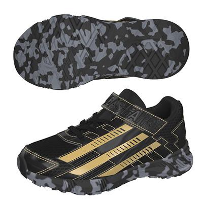 アディダス (adidas) ジュニア アディダスファイト EL K(コアブラック×ダークグレー×ゴールドメット) S41852 [分類:キッズ・子供靴 スニーカー]の画像