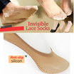 Free event[5+1/10+2]Korean invisible socks/WOMEN SOCKS/Cotton Anti- Slip/Lace/Ankle stocking
