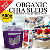 ★ 500g Raw Organic Chia Seeds from South America/Healthy Food/Slimming/Weight Loss/Diet/Digestion