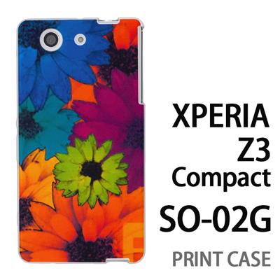 XPERIA Z3 Compact SO-02G 用『No1 F フラワー』特殊印刷ケース【 xperia z3 compact so-02g so02g SO02G xperiaz3 エクスペリア エクスペリアz3 コンパクト docomo ケース プリント カバー スマホケース スマホカバー】の画像