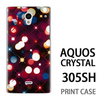 AQUOS CRYSTAL 305SH 用『0110 ネオン 赤』特殊印刷ケース【 aquos crystal 305sh アクオス クリスタル アクオスクリスタル softbank ケース プリント カバー スマホケース スマホカバー 】の画像
