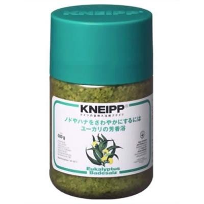 クナイプ KNEIPP バスソルト ユーカリ 500gクナイプ/KNEIPP/バスソルト/芳香浴/入浴剤/岩塩/精油/ハーブ/ユーカリ/500gの画像