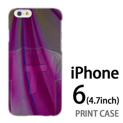 iPhone6 (4.7インチ) 用『No1 T 紫のTシャツ』特殊印刷ケース【 iphone6 iphone アイフォン アイフォン6 au docomo softbank Apple ケース プリント カバー スマホケース スマホカバー 】の画像