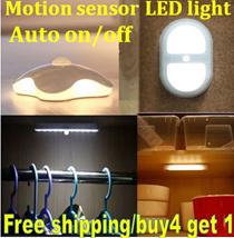 Free shipping!BUY 4 GET 1 FREE/Auto On Off Motion Sensor Smart LED Night Light/ sensor LED Light