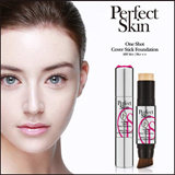 [Perfect Skin] ★ Surprise Price ★ (sg) One Shot Cover Stick Foundation SPF 50+ PA+++ 12.5g (Including Brush) / A fabulous combination of foundation and essence core stick