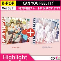 送料無料【1次予約限定価格】初回限定ポスターHighlight(元BEAST) 1st Mini Album `CAN YOU FEEL IT`  バージョンSET!【発売3月21】【3月末発送】