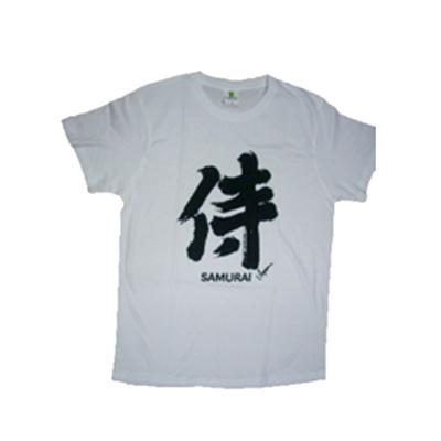 FJK日本お土産Tシャツ侍白(ホワイト)E/T00066