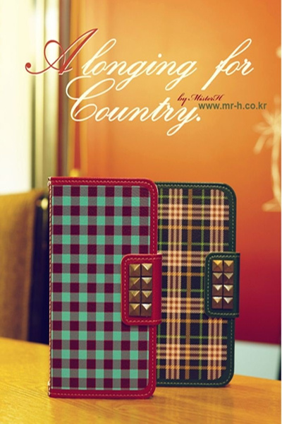 【iPhone/GALAXY/GALAXY Note/LG G2ケース】Mr.H A longing for country Diary オリジナル ハンドメイド ダイアリー【レビューを書いてネコポス送料無料】の画像