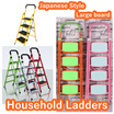 【Local stock!】【Type D restocked!】【Large Board Foldable Ladder!】Safe! Compact! Easy to use!