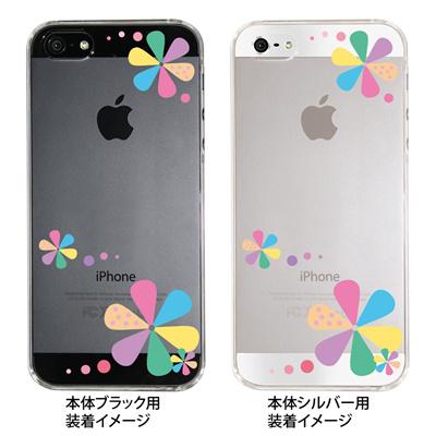 【iPhone5S】【iPhone5】【iPhone5】【ケース】【カバー】【スマホケース】【クリアケース】【フラワーカラーA】 ip5-22-fn0001の画像