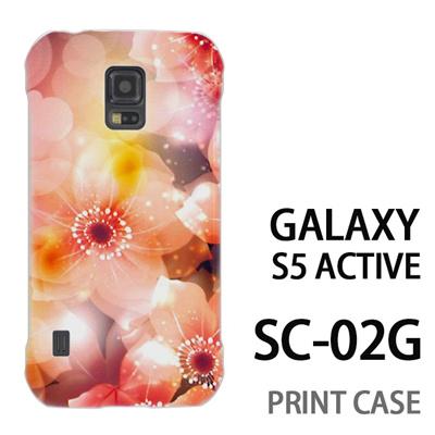 GALAXY S5 Active SC-02G 用『0116 きらきら花びら 橙』特殊印刷ケース【 galaxy s5 active SC-02G sc02g SC02G galaxys5 ギャラクシー ギャラクシーs5 アクティブ docomo ケース プリント カバー スマホケース スマホカバー】の画像