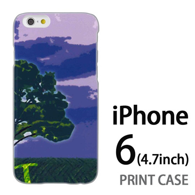 iPhone6 (4.7インチ) 用『No1 T 草原の一本の木』特殊印刷ケース【 iphone6 iphone アイフォン アイフォン6 au docomo softbank Apple ケース プリント カバー スマホケース スマホカバー 】の画像