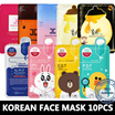 Hottest thing Face mask Korea Sheet 1set 10pcs / Mediheal Face Mask /  Jayjun Face Mask /BOOMBI Face Mask