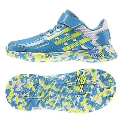 アディダス (adidas) ジュニア アディダスファイト EL K(ソーラーブルー×ソーラーイエロー×ランニングホワイト) B24091 [分類:キッズ・子供靴 スニーカー]の画像