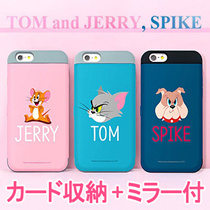 ★正規品★Tom and Jerry Card BumperキャラクターCard / Mirror ケース 手帳型★iPhone8/7/Plus/6/5S/SE/S8/S7/Edge/Note 8/5