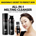 ♥MADONNA'S SECRET TO PERFECT SKIN♥ ALL-IN-1 Melting Cleanser Super Co2/SPARKLING CARBONATED WATER BOMB/Make-up remover/Exfoliation/Brightening/Soft-skin/Plant-Based Ingredients/Sensitive skin/OSEQUE