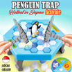C- Penguin Trap Crush Ice Game | Building Block | Family Game [Japan Hottest Game] BEST SELLING