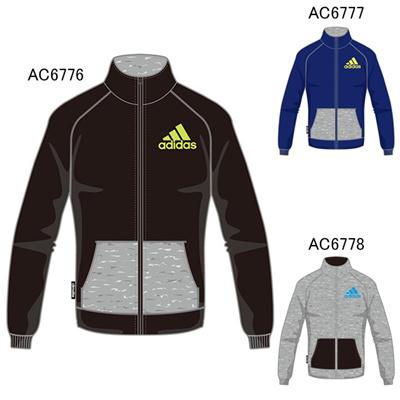 アディダス (adidas) KIDS TCOS SPORTS  CLIMALITE フロッキープリントビッグロゴ クルースウェット BBQ55 [分類:スウエットシャツ・トレーナー (ジュニア)]の画像