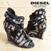 ♥送料無料♥ ディーゼル DIESEL ブーティ 靴 レディース オープントゥ ウェッジソール ブーツ サンダル パンプス AVENIR BLUE