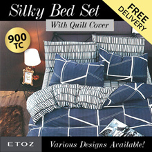 [ETOZ] NEW DESIGNS!! 900 TC Silky Bed Set (With Quilt Cover) ★Different Design Available★